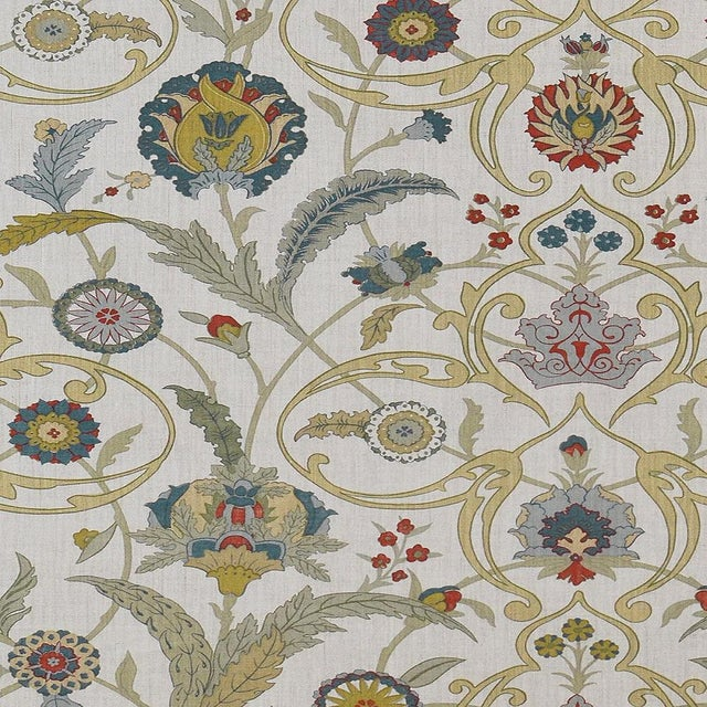 "Lewis & Wood Ipek Damask Pugin Extra Wide 52"" Damask Wallpaper - 1 Yard For Sale"