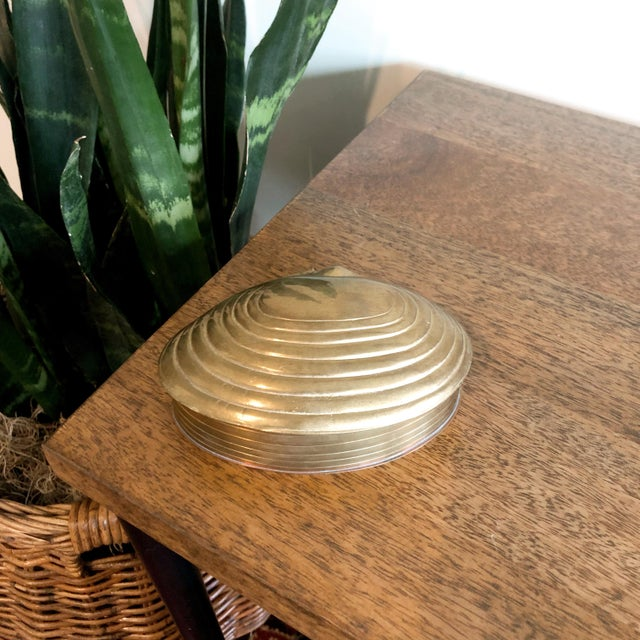 1960s Brass Shell Trinket Box For Sale - Image 5 of 5