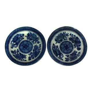 Early 19th Century Pearlware Plates - a Pair For Sale