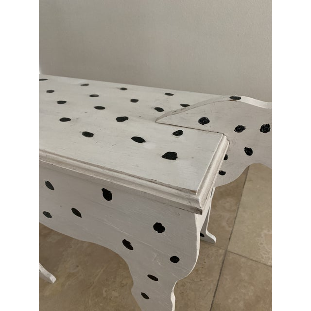 Black 1970s Dalmatian Dog Wooden Table - Handmade For Sale - Image 8 of 13