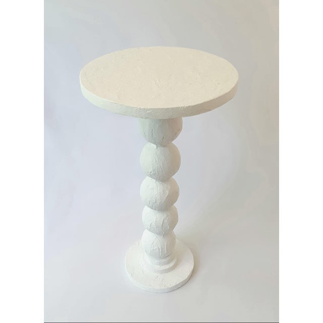 Not Yet Made - Made To Order Modern Artisan Carnival White Accent Table For Sale - Image 5 of 5