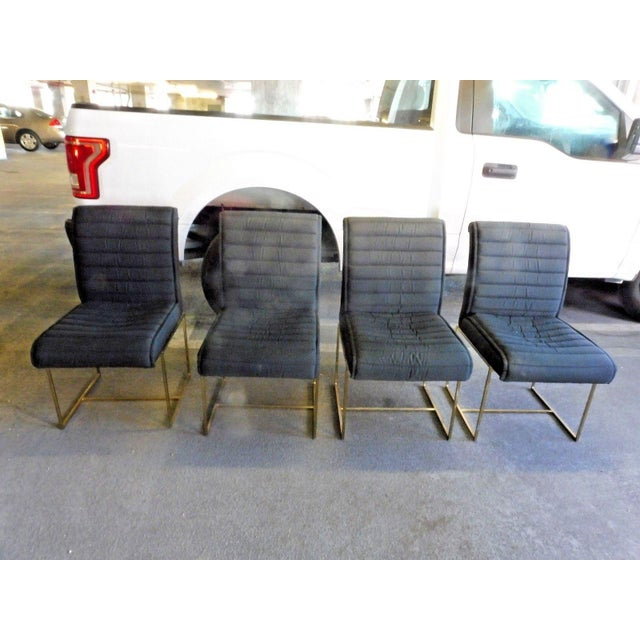 1970's Mid-Century Modern Milo Baughman Dining Chairs - Set of 4 For Sale - Image 13 of 13