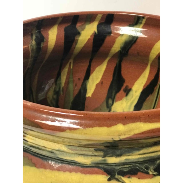 Art Deco Peters and Reed Glazed Pottery Vase For Sale - Image 3 of 6