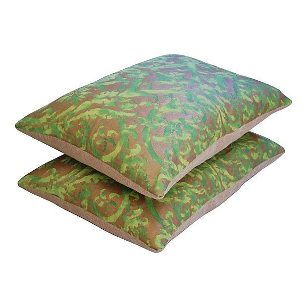 Designer Italian Fortuny Farnese Pillows - A Pair - Image 4 of 7