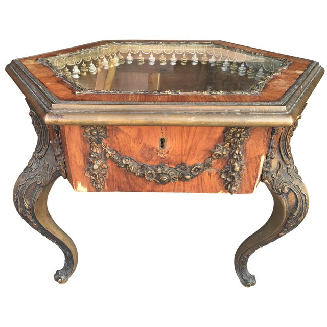 French Victorian Vitrine Table - Image 1 of 5