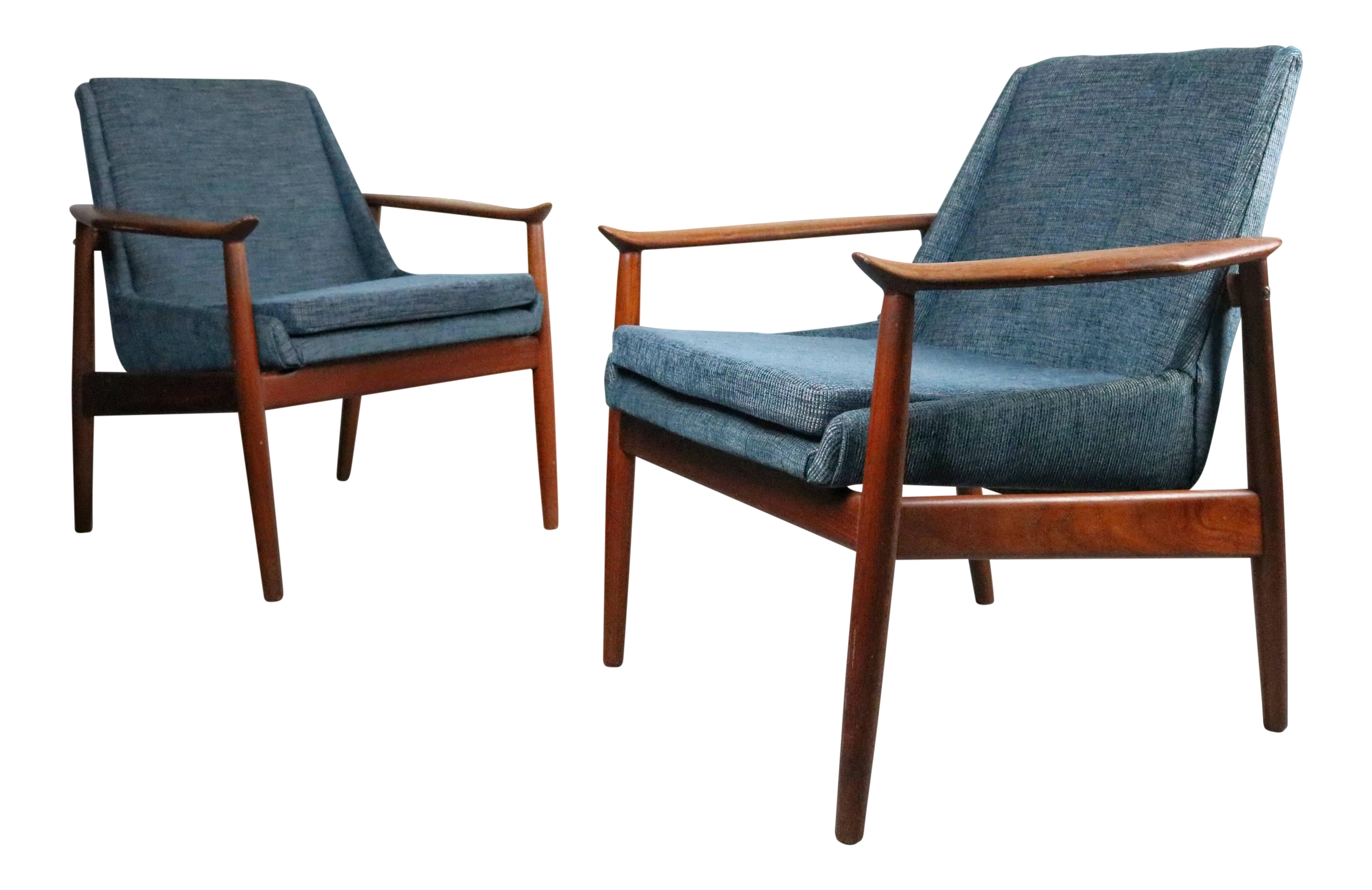 Arne Vodder For Slagelse 810 Lounge Chairs   A Pair