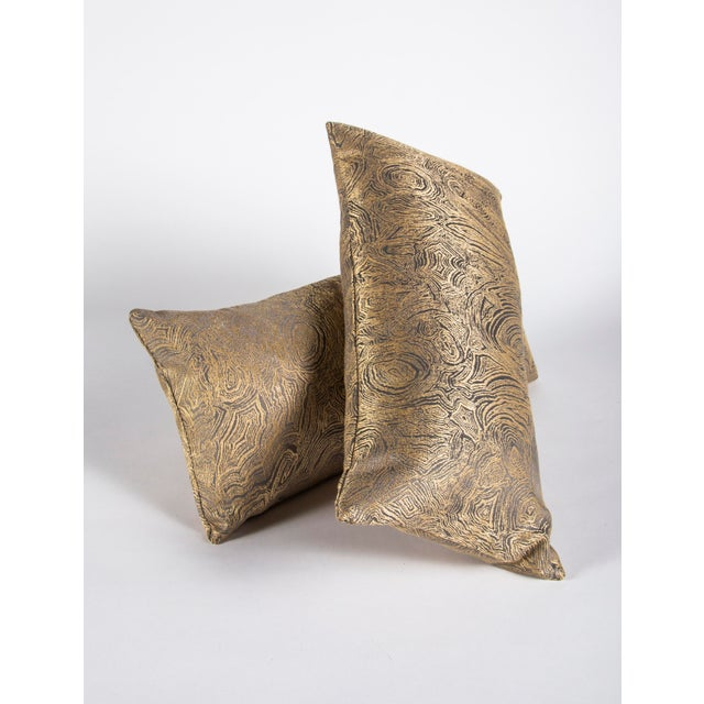Modern Iridescent Agate Lumbar Pillow For Sale - Image 3 of 9