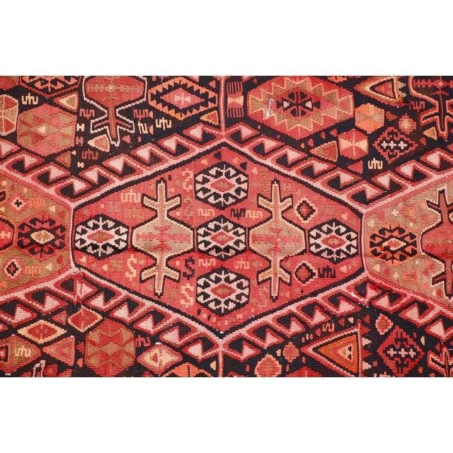 """Antique Caucasian Kilim - 13'4"""" X 5'7"""" - Image 5 of 5"""
