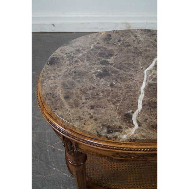 Marble Top Side Table For Sale - Image 5 of 10