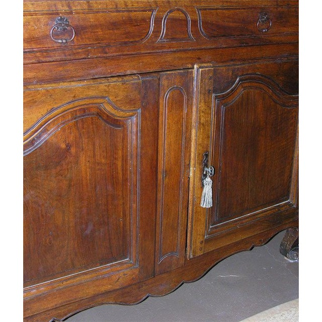 Late 18th Century French Walnut Buffet For Sale - Image 5 of 11