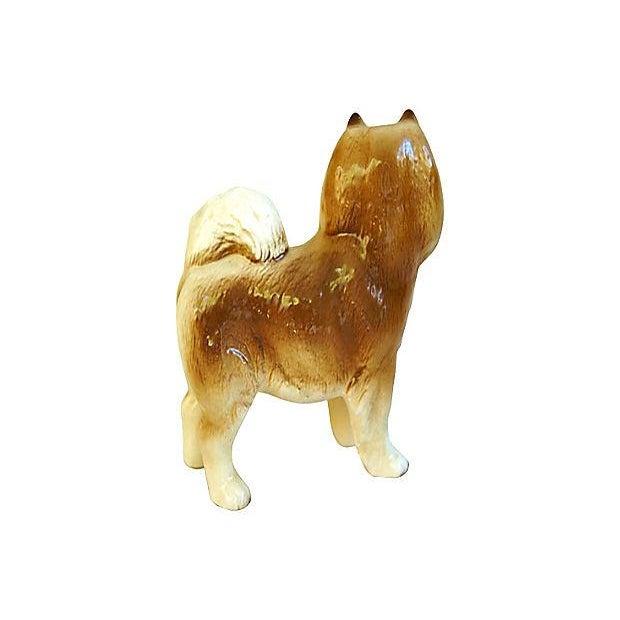 1960s English Coopercraft Husky Dog Figurine - Image 4 of 4