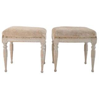 18th Century Pair of Swedish Gustavian Period Footstools