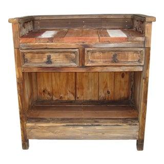 Custom Rustic Wood Bar For Sale