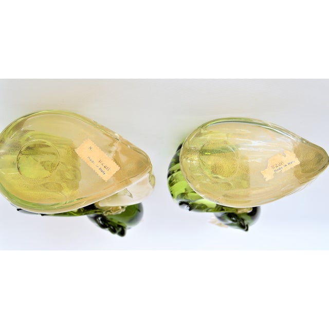 1950s Murano Glass Bird Figurines Sculptures- a Pair For Sale - Image 10 of 12