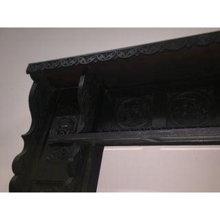 Antique Black Wood Fireplace Mantel Preview