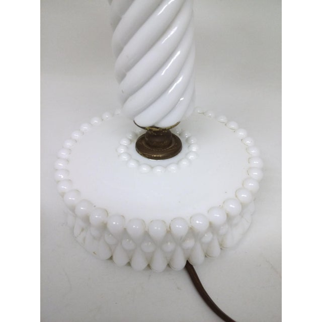 Vintage Milk Glass Table Lamp - Image 4 of 8