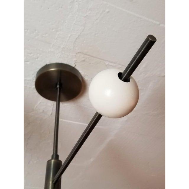 Blueprint Lighting Blueprint Sculptural Enamel, Glass & Bronze Orbital 3-Arm Pendant For Sale - Image 4 of 12