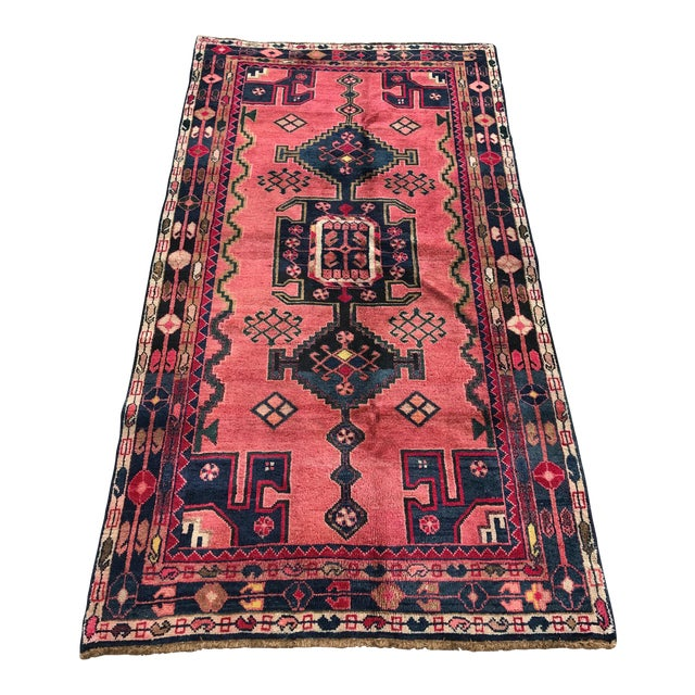 "Vintage Persian Rug - 4'4"" x 8' - Image 1 of 7"