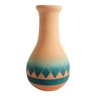 Vintage Carved Southwestern Sioux Pottery Vase For Sale