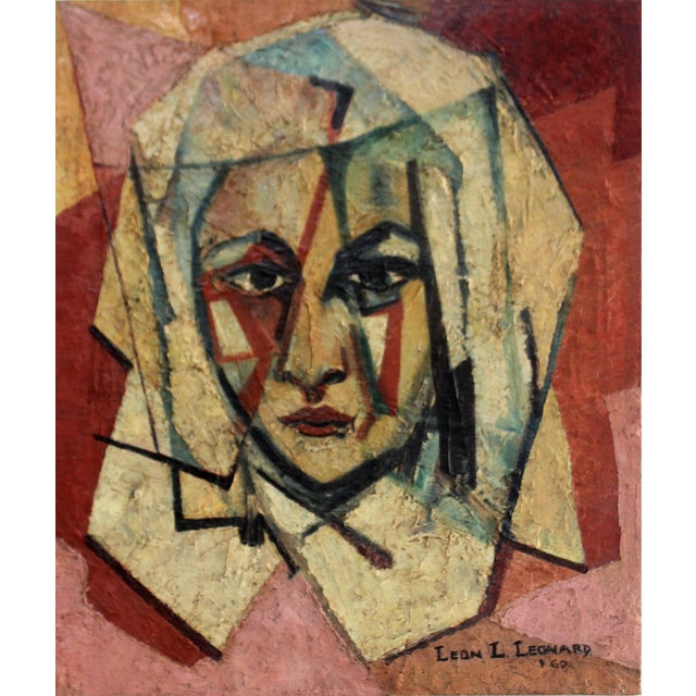 """""""The Nun"""" Encaustic Painting 1960 by Leon Lank Leonard For Sale"""