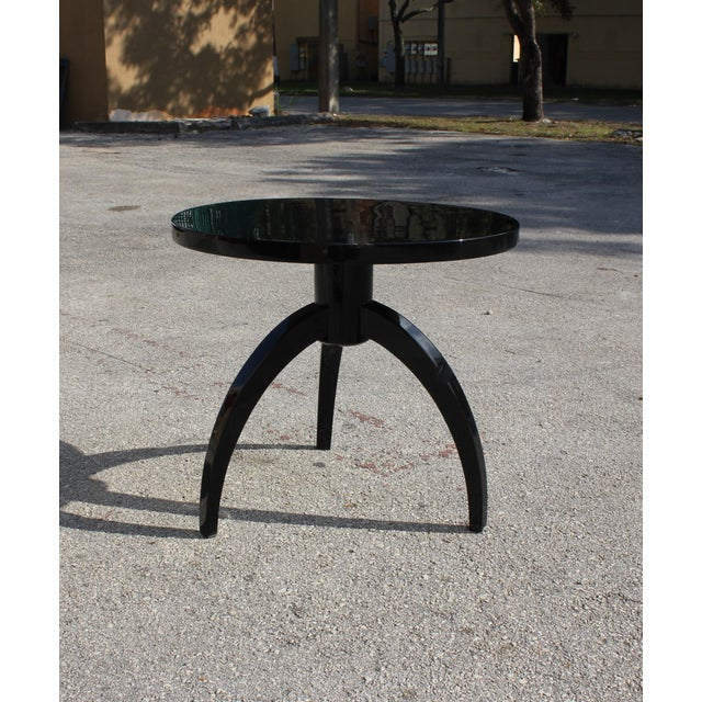 French Art Deco Black Lacquer ''Spider Leg'' Side Table - Image 10 of 10