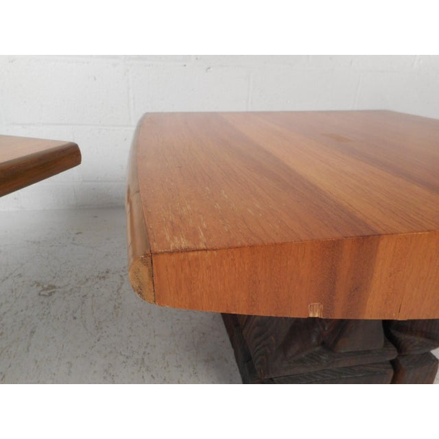 Pair of Midcentury Totem End Tables by Witco For Sale In New York - Image 6 of 13