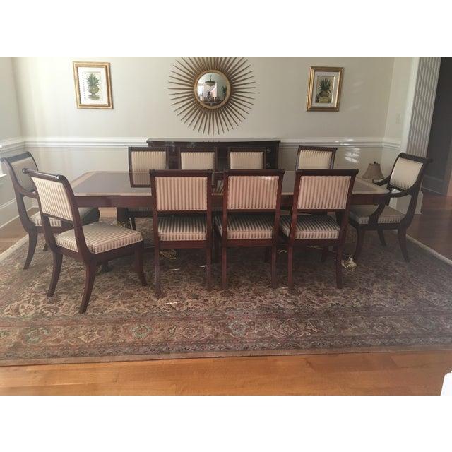 Baker Mahogany & Gold Regency Dining Set - Image 2 of 5