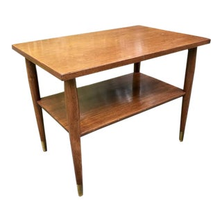 Mid Century Coffee Table Bi-Level 1950's For Sale