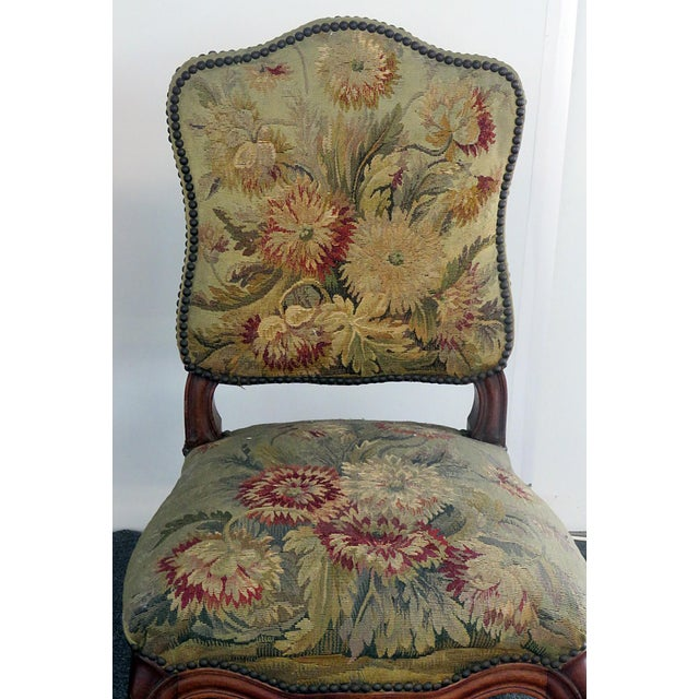 Louis XVI Mid Century Louis XVI Style Side Chairs- A Pair For Sale - Image 3 of 10