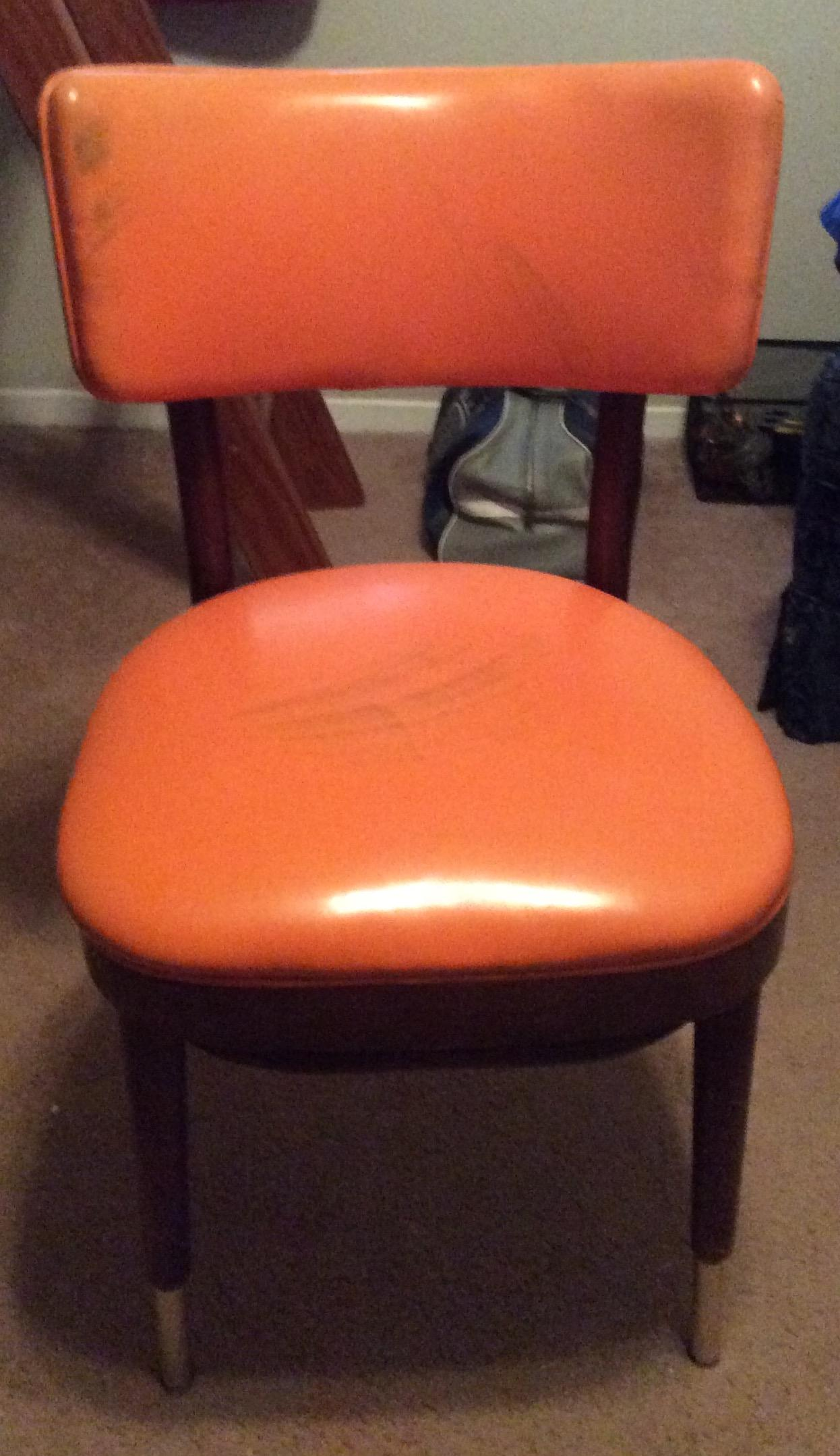 Shelby Williams Vintage Retro Orange Side Chair   Image 2 Of 9