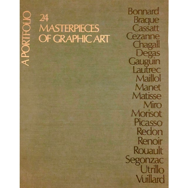 Rare, limited portfolio of 24 loose matted prints by 24 modern art masters including Picasso, Renoir, Manet, and Cezanne...