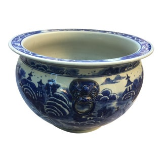 Blue & White Chinoiseire Jardiniere