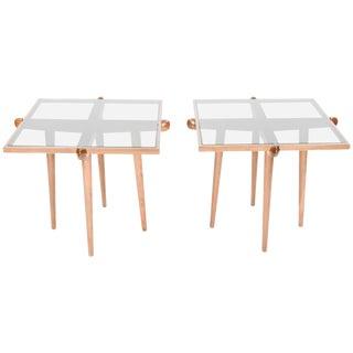 Italian Mid-Century Modern Walnut Side Table - a Pair For Sale
