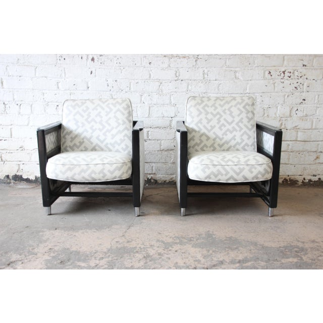 Edward Wormley for Dunbar Rocking Lounge Chairs - a Pair For Sale - Image 10 of 10