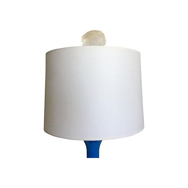 French Blue Opaline Lamp For Sale - Image 4 of 8