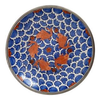 Porcelain & Pewter Koi Bowl