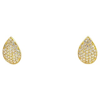 Gold-Plated Sterling Leaf Earrings For Sale