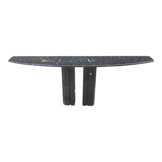 1980s Postmodern Marble Slab Narrow Console Table - Set of 3 For Sale