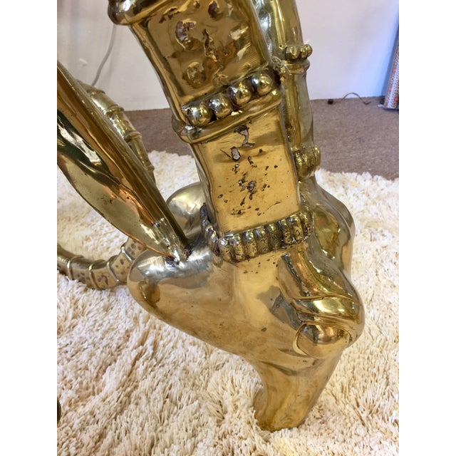 Solid Brass Vintage Ibex Dining Table For Sale In Atlanta - Image 6 of 14