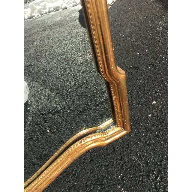 Gold Italian Carved Wood Gilt Mirror For Sale - Image 8 of 12
