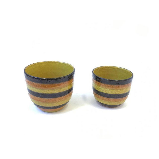 Rosenthal Netter Pair of Italian Ceramic Planters by Bitossi for Rosenthal For Sale - Image 4 of 7