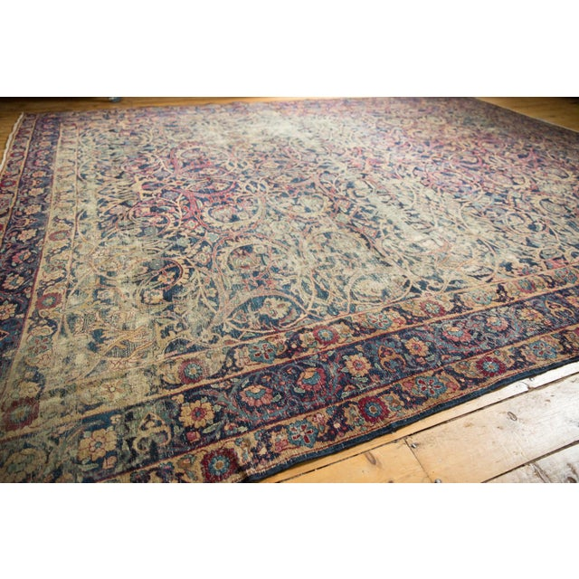 "Vintage Yezd Carpet - 9'2"" X 11'9"" For Sale In New York - Image 6 of 13"