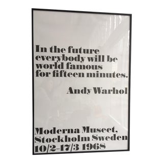 """In the Future"" Andy Warhol Poster"