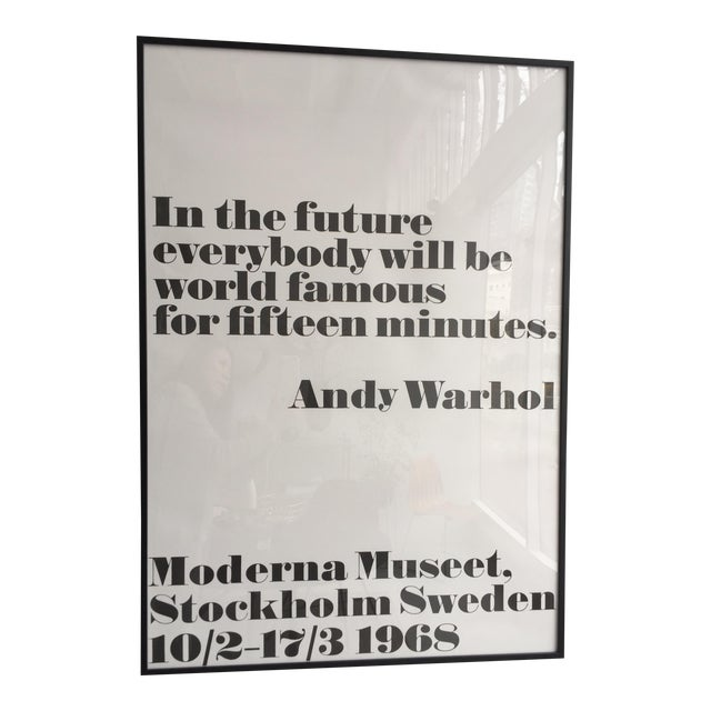 """In the Future"" Andy Warhol Poster For Sale"