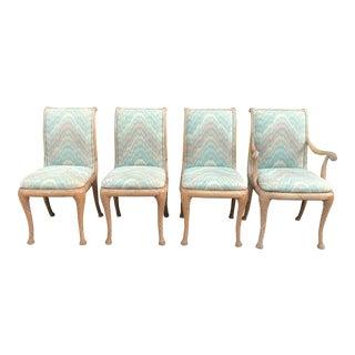 Late 20th Century Vintage Casa Stradivari Custom Made Chairs- Set of 4 For Sale
