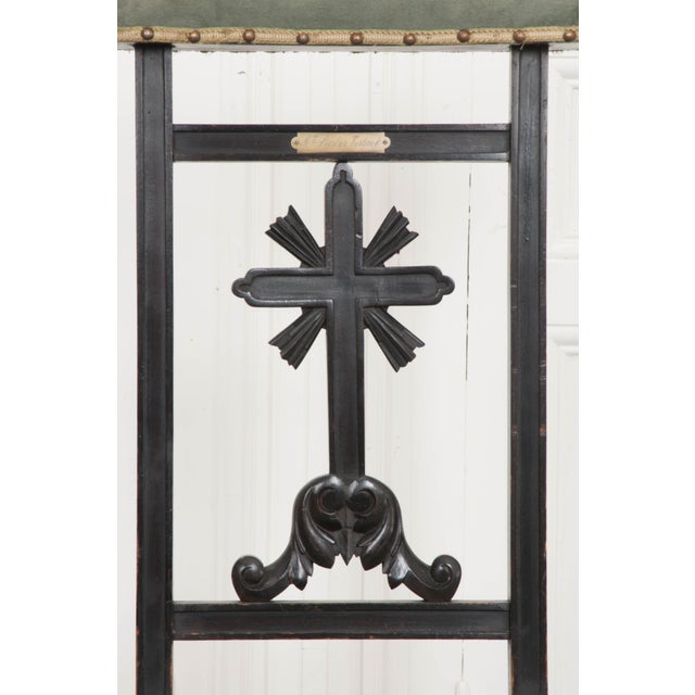 French 19th Century Upholstered and Ebonized Prie Dieu For Sale - Image 4 of 13
