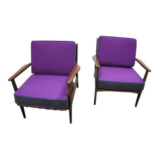 American Baumritter Tritone Upholstered Chairs - A Pair