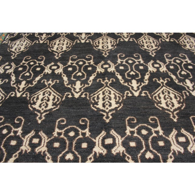 """Hand Knotted Ikat Rug by Aara Rugs Inc. - 9'5"""" X 11'9"""" For Sale - Image 4 of 5"""