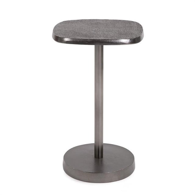 Metal Kenneth Ludwig Chicago Minimalist Cast Aluminum Martini Table For Sale - Image 7 of 7