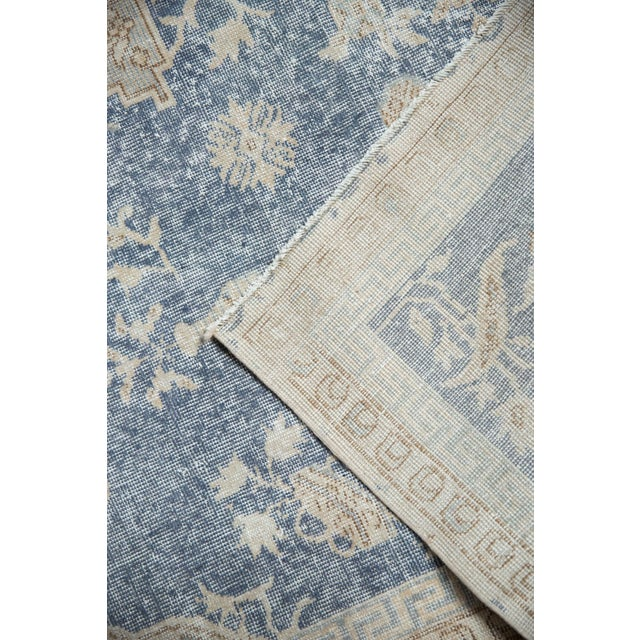 "Vintage Distressed Fragment Sparta Carpet - 5'7"" X 9'1"" For Sale - Image 10 of 11"